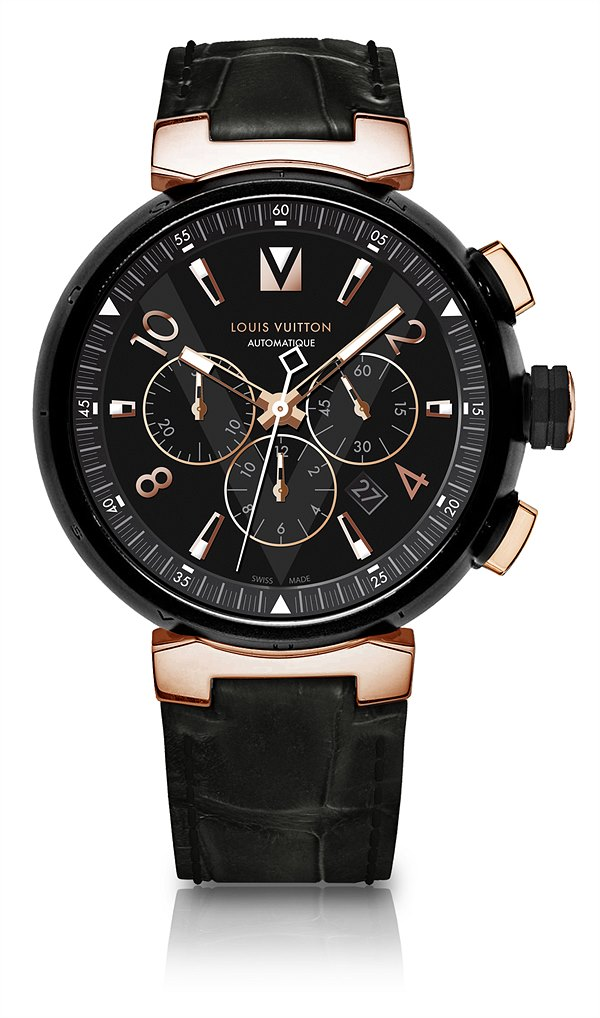 LV_Tambour All Black & Gold Chronograph_EUR 9.750,-