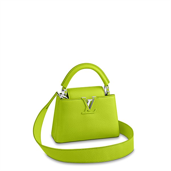 LV_Capucines Mini_chartreuse_in Taurillon leather