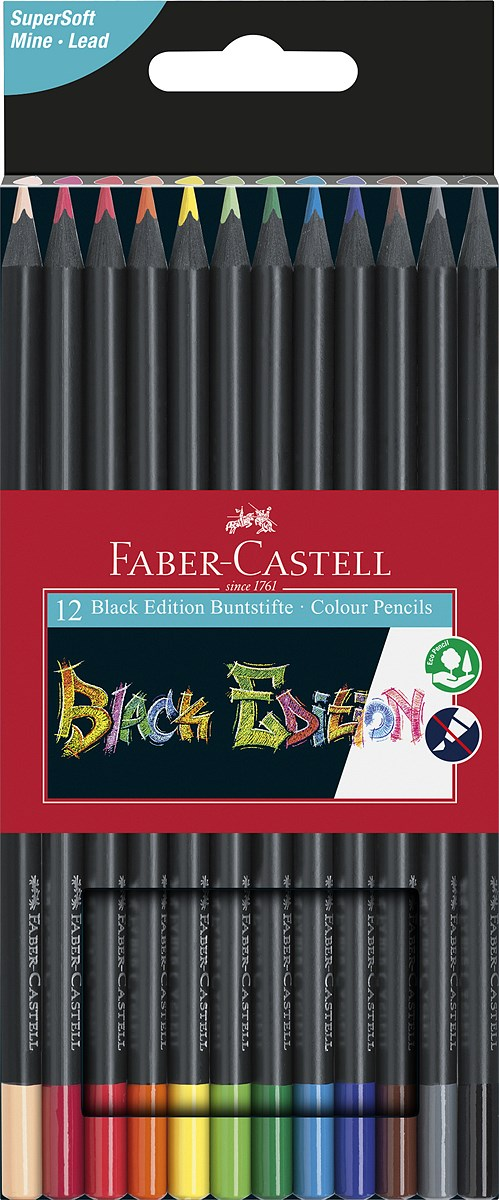 Faber-Castell_Black Edition Buntstifte_Set aus 12_6,00 EUR