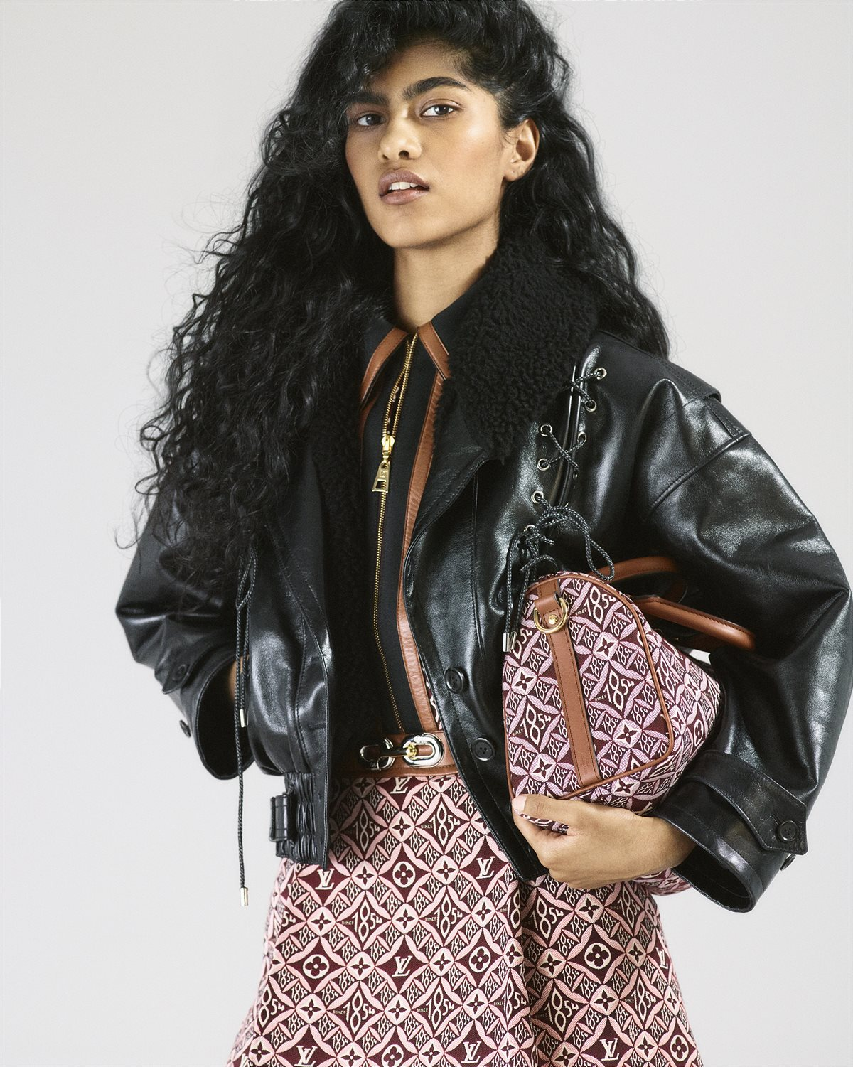 LV_Speedy Bandoulière 25 bag in SINCE 1854 jacquard textile and cowhide leather 2
